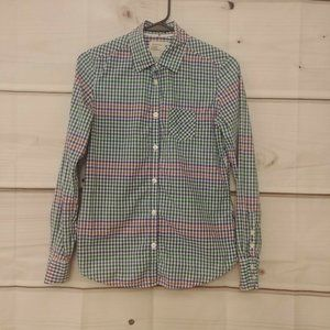 American Eagle Outfitters Button Front Top Gingham